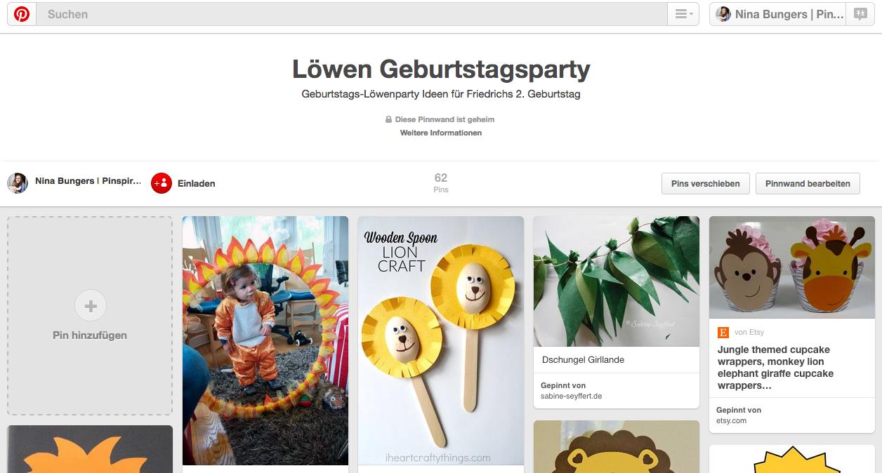 Kindergeburtstag planen mit Pinterest: Geheime Pinnwand erstellen