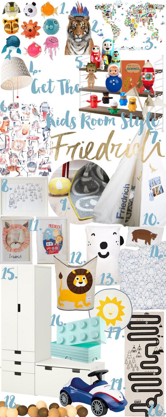 Friedrichs neues Kinderzimmer Lieblingsprodukte