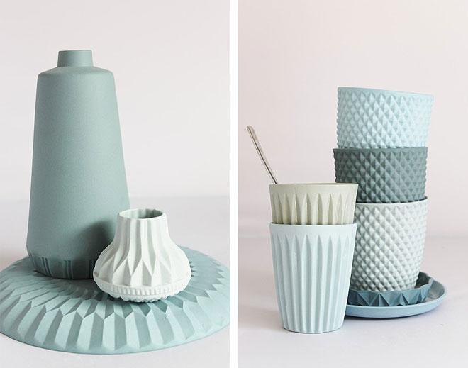 lenneke wispelwey vases  blue