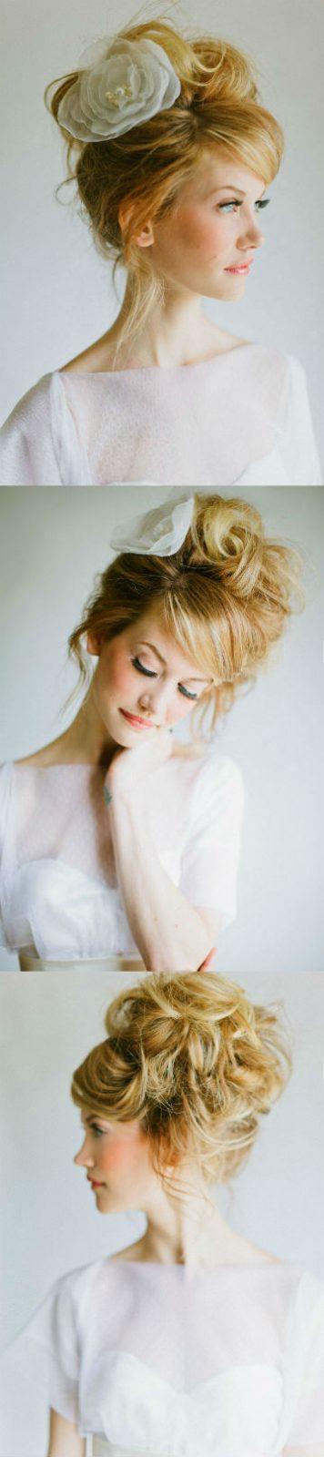 Hochzeitsfrisur, Blume im Haar