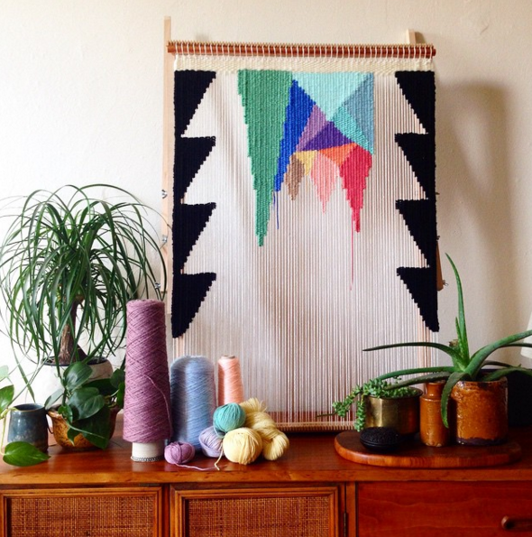 Pinspiration Pinterest Pinner Interview: Maryanne Moodie Webkunst | woven wall hanging