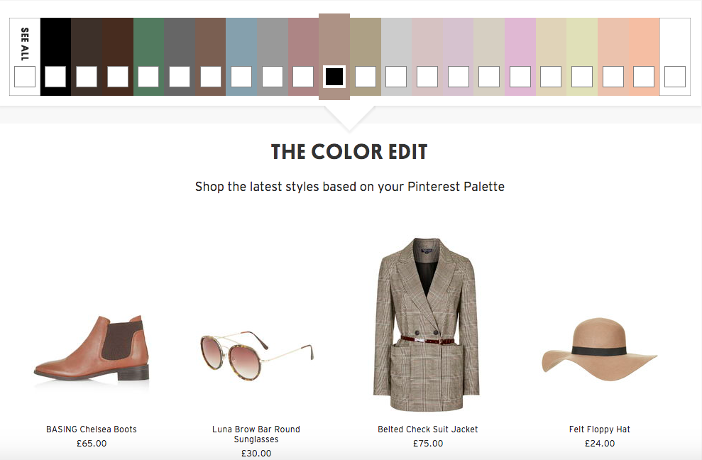 Topshop Pinterest Color Palette Shoppingtipps
