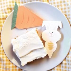 Karotten Osterkuchen und Oster Wimpelkette