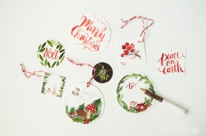 Weihnachtsgeschenkanhänger