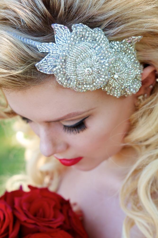 Perlen Haarschmuck, Swarovski Kristalle