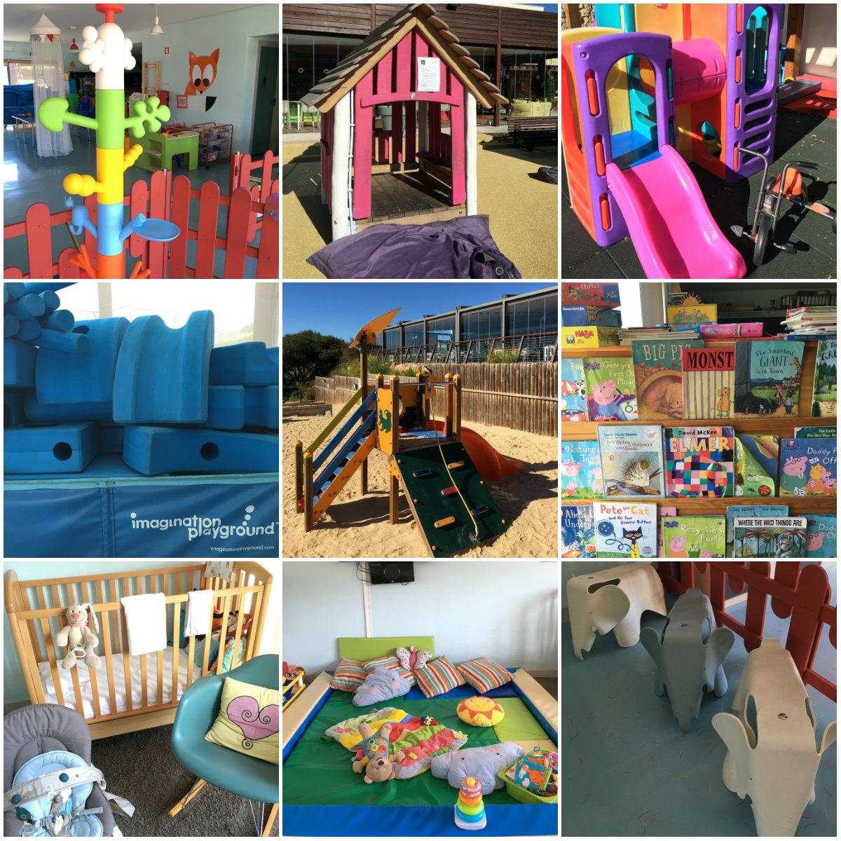 Collage Martinhal Family Beach Resort Sagres Spielecken 3