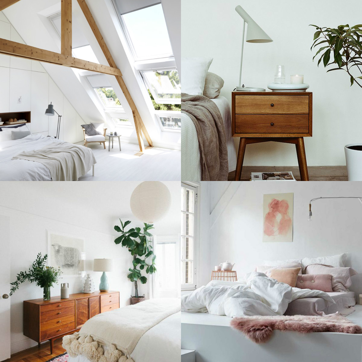 Collage Pinterest Schlafzimmer Inspiration
