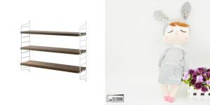 Collage Verlosung String Pocket: Kanindocka Lille Kanin
