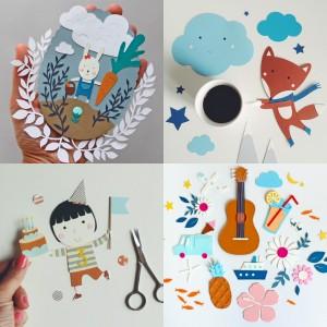 Collage paper cut Giochi di Carta Silvia Raga