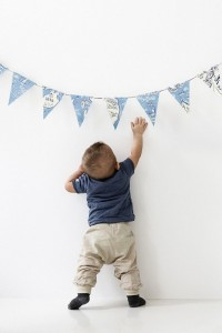 DIY Wimpelkette Photowall Tapete
