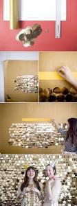 DIY Pailletten Hintergrund