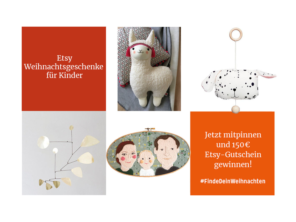 #FindeDeinWeihnachten: Etsy Weihnachtsgeschenke für Kinder. Jetzt mitpinnen und 150€ gewinnen! | Pinspiration