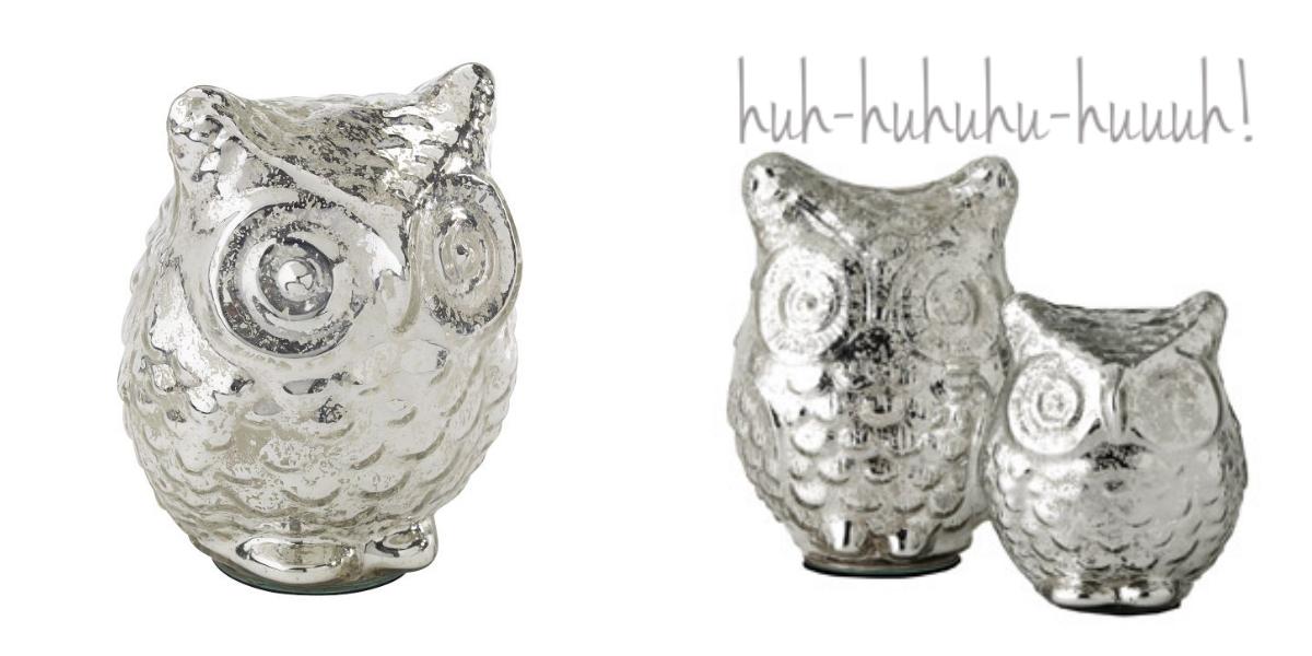 Silberglas Eulen