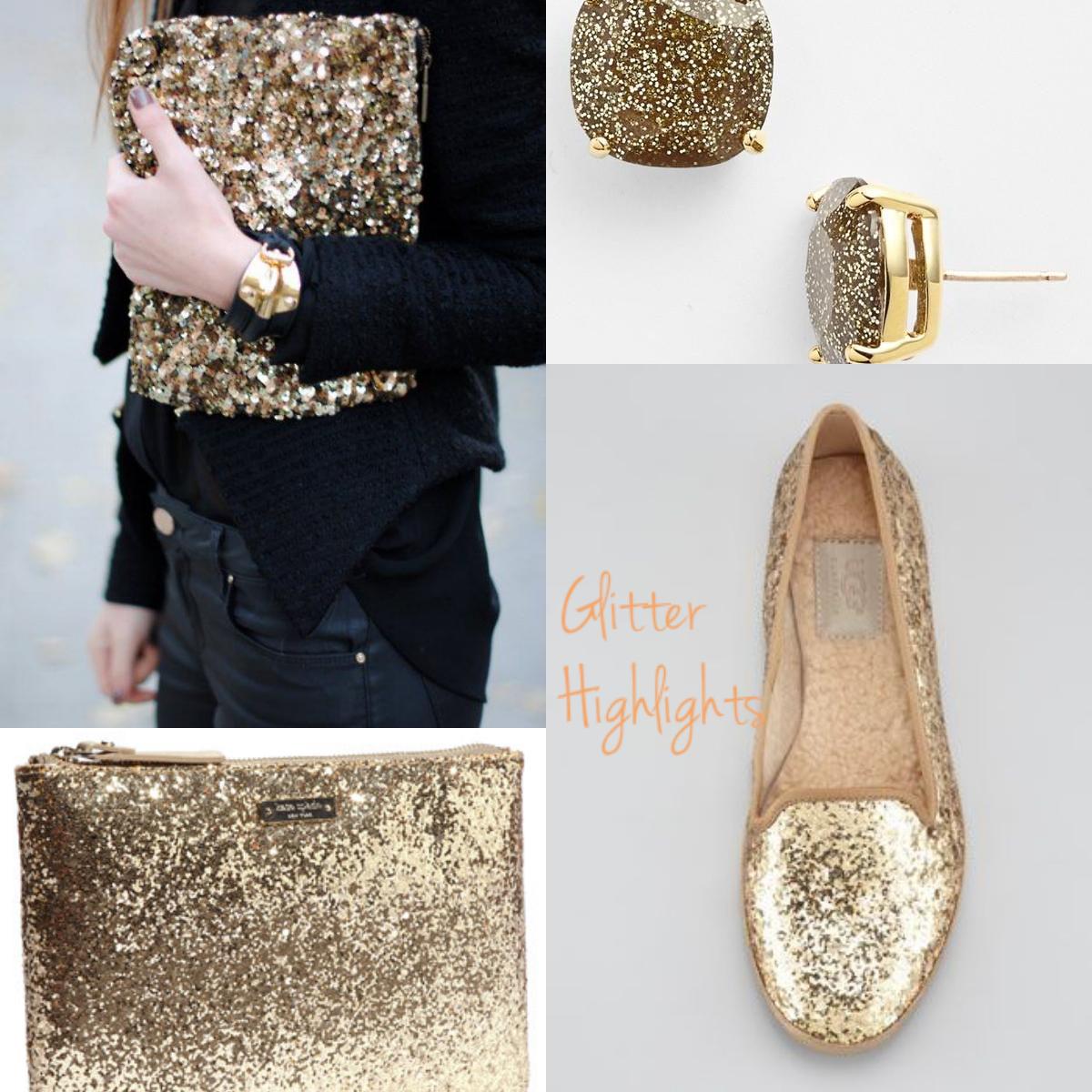 Golden Sequin Glitter Style