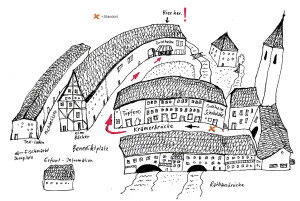 Goldhelm-Schokoladenmanufaktur-Illustration