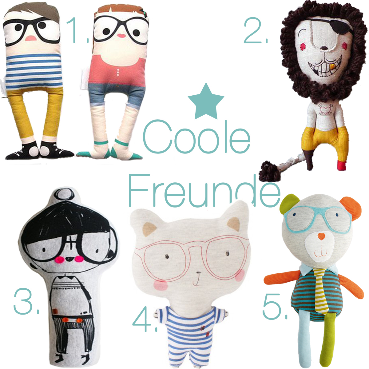 Kids Room Stofftiere Coole Freunde