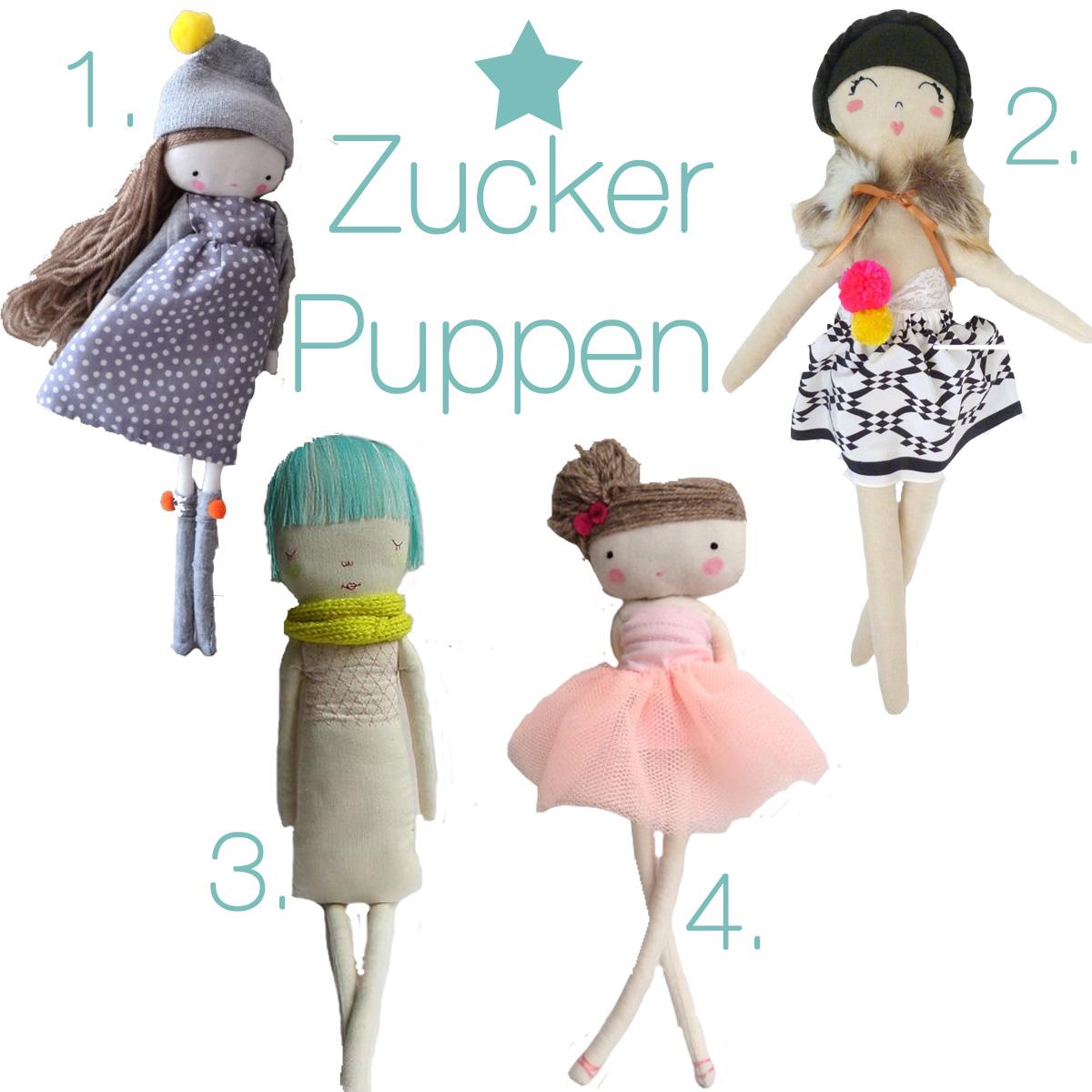 Kids Room Stofftiere Zucker Puppen