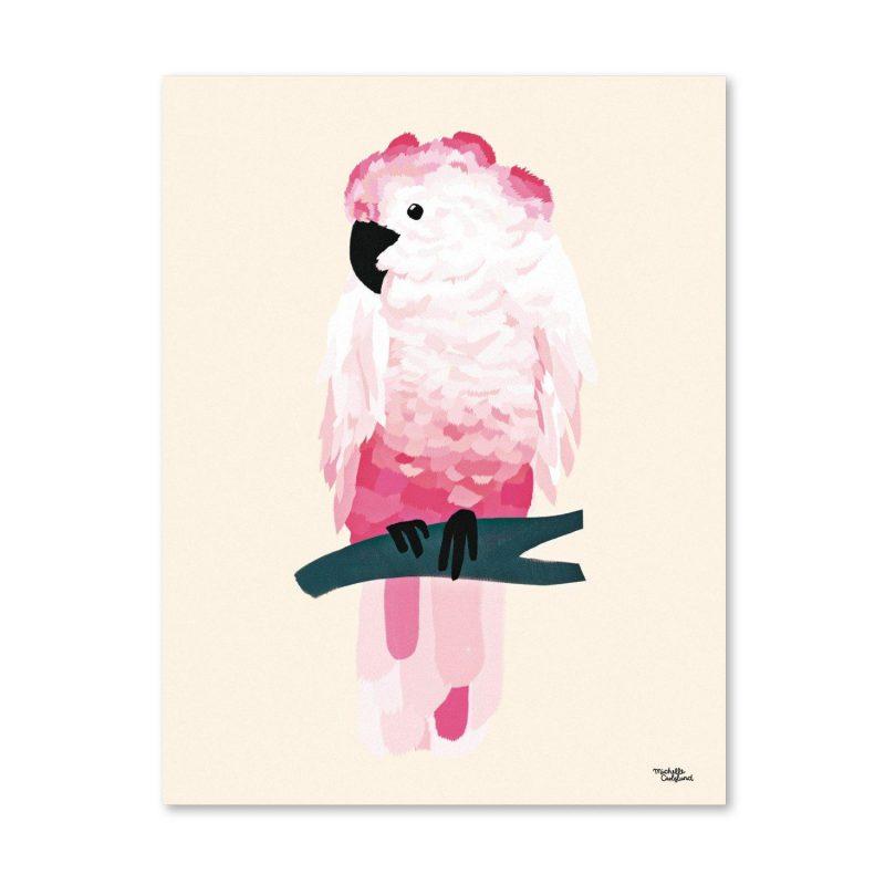 Pink cockatoo Michelle Carlslund