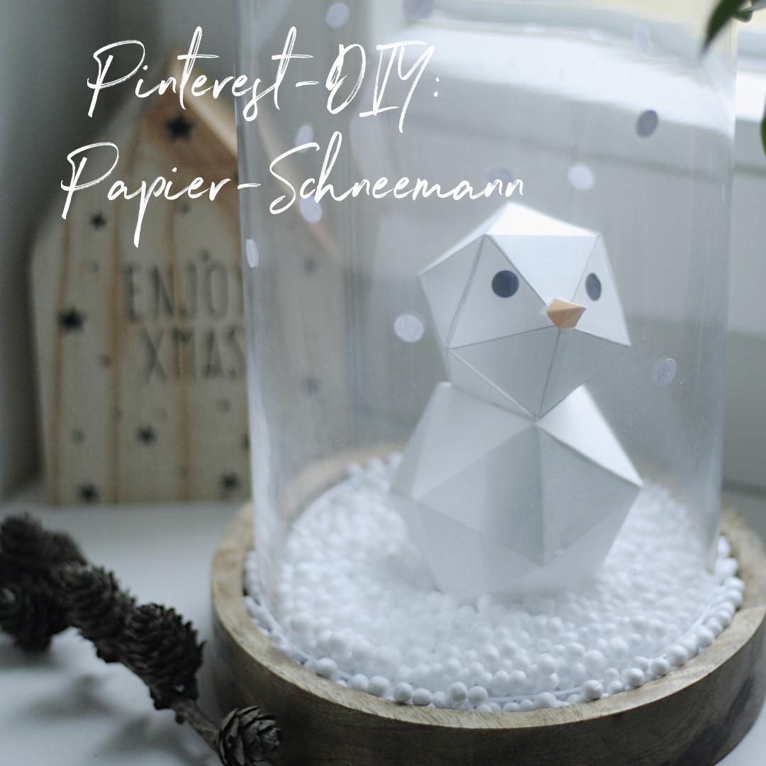 Pinterest Praxistest: DIY-Papier-Schneemann | Pinspiration