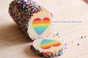 Pinterest Regenbogen Herzkekse Tutorial Test schneiden