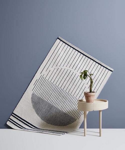 IMM 2016 Trendreport: Woud Design Circle Rug Rikke Malling Skirt side table studiomikkolaakkonen