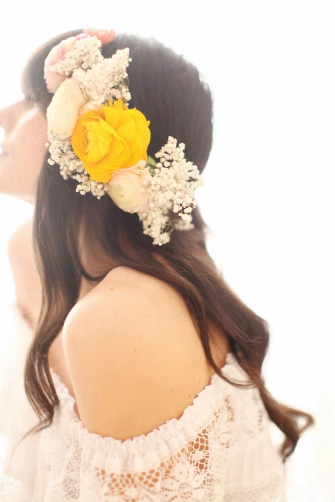 Blumenkranz, Blumen Haarschmuck
