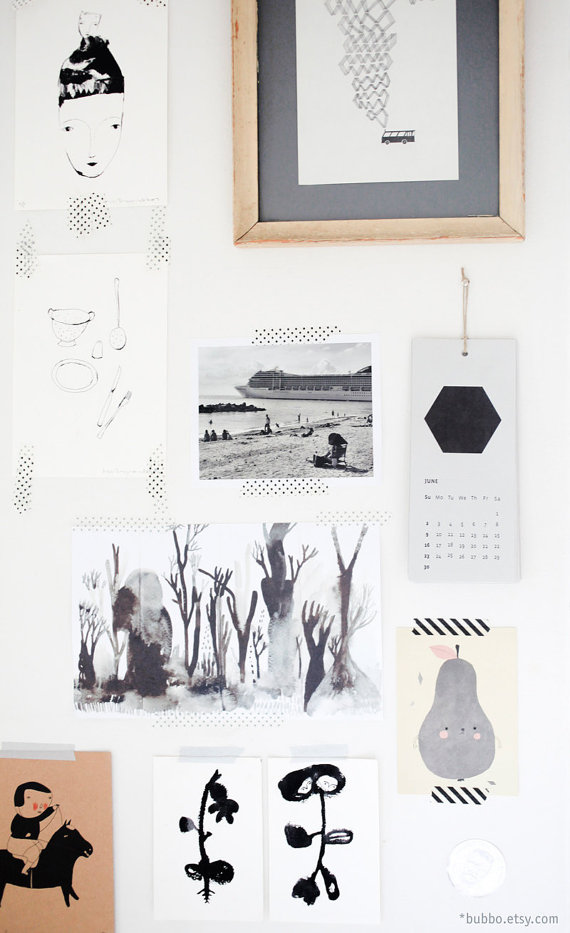 bubbo Kalender 2015 Etsy
