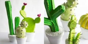 collage DIY Papier Kakteen