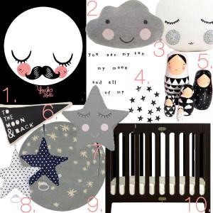Kinderzimmer Sterne und Mond