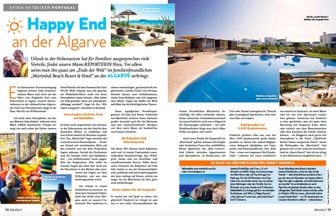 kinder Magazin Martinhal Family Beach Resort Sagres