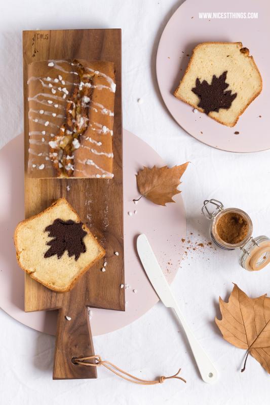 Kuchen mit Herz Blatt Zimtkuchen von Nicest Things