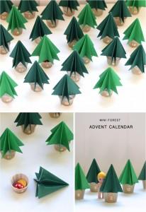 DIY Weihnachtsbaum Adventskalender