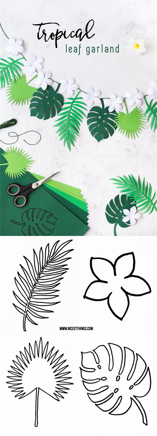 DIY tropische Blättergirlande via Nicest Things