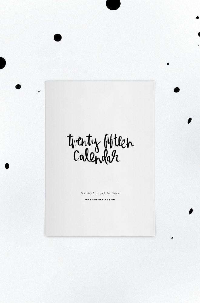 twenty fifteen calendar