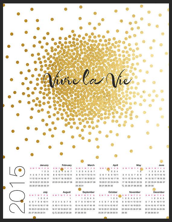 vivre la vie Kalender 2015